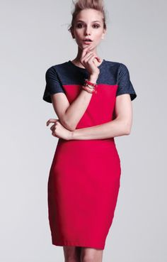 Dream team. RACHEL RACHEL ROY #colorblock #denim #dress #impulse BUY NOW!