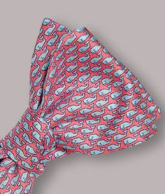 Vineyard Vines Whale Silk Bow Tie
