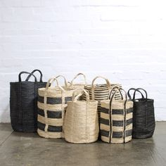 These beautiful, Fair Trade, extra large floor baskets are perfect for serious storage. Sisal, Rattan, Wicker, Wooden Train, Basket Bag, Plant Basket, Soft Furnishings, Storage Baskets, Home Design