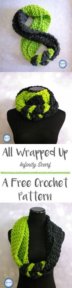 This FREE,modern, beginner friendly crochet pattern is a perfect and quick stash buster. A video tutorial will help you make this infinity scarf for your next chilly winter day. Crochet Scarves, Crochet Shawl, Crochet Clothes, Crochet Stitches, Knit Crochet, Crotchet, Crochet Crafts, Easy Crochet, Crochet Projects