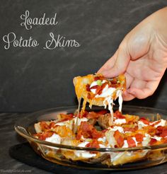 Loaded Potato Skins are perfect as a side dish or for a party!
