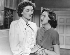 """Myrna Loy (August 2, 1905 - December 14, 1993) as Milly Stephenson and  Teresa Wright as Peggy Stephenson (October 27, 1918 - March 6, 2005) in """"The Best Years of Our Lives"""", 1946 #actor #still"""