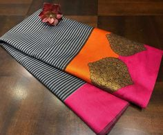 Semi Katan Silk Saree Silk Sarees Online Shopping, Cotton Sarees Online, Silk Cotton Sarees, Pure Silk Sarees, Brocade Blouse Designs, Saree Tassels Designs, Designer Blouse Patterns, Kanjivaram Sarees Silk, Khadi Saree