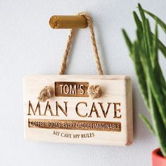 Personalised 'Man Cave' Wooden Sign - shop by price