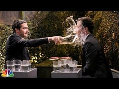 Funny Water War Game Between Jimmy Fallon And Jake Gyllenhaal - #funny #JimmyFallon #JakeGyllenhaal