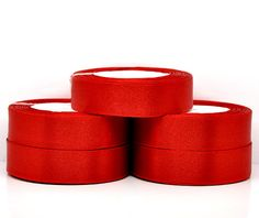 1 inch wide RED SATIN Ribbon for Weddings by SmartParts on Etsy, $5.99