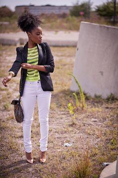 Sheer neon stripes
