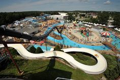 Water Wizz in Wareham,Ma.  The black slide is Pirate's Plunge aka The Wedgie Giver.