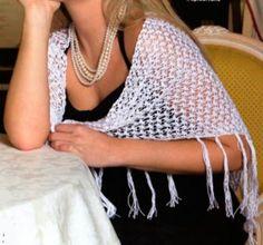 Háčkovaný letní šátek