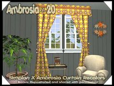 Ambrosia Curtains~Slaved & Recolored - News