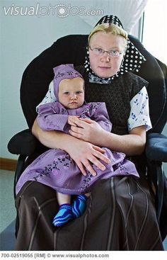 Image detail for -Hutterite Woman With Baby, Silver Sage Colony, Alberta, Canada [700 ...