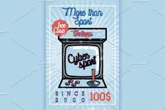 Color vintage cyber sport banner by Netkoff on @creativemarket