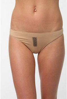 High-end nude ruffled butt panties
