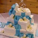 gift box wedding cake with ring