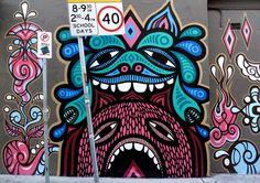 Big Walls By Beastman, Phibs - Newtown (Australia)