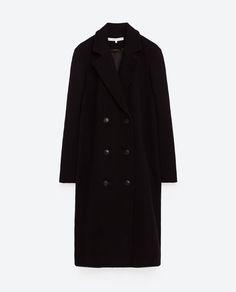 Image 8 of OVERSIZED FABRIC COAT from Zara
