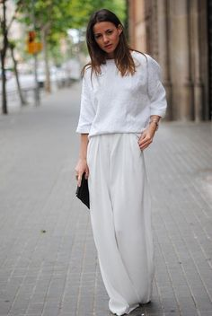 Get back to basics this Winter in a bleached out all-white look.