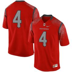 292048aef9e #4 Rutgers Scarlet Knights Nike Replica Football Jersey - Scarlet