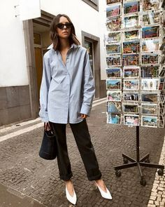 The best spring travel outfit ideas, straight from Who What Wear readers. White Shoes Outfit, Mango, White Pumps, White Boots, Star Fashion, Get Dressed, Spring Summer Fashion, Fall Fashion, Work Wear
