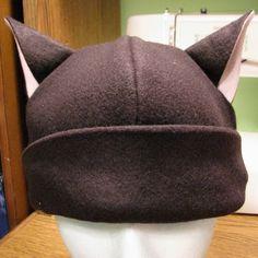 fleece hat with ears - link to pattern