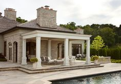 Covered outdoor terrace