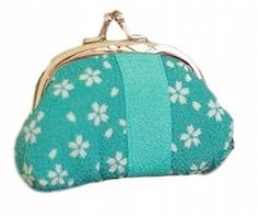 POJ Japanese Style Coin Purse [Blue / Red ] Cherry Blossoms (Sakura) Pattern Cosplay Goods