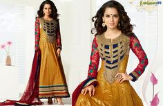 Shop Online Exclusive #Kangana Ranaut Mustard Long #AnarkaliSuit  at extra discount & Free Shipping India. PAY Online and Get More Discount.. Shop Now:- http://www.shoppers99.com/kangana_ranaut_designer_anarkali_suits/kangana_ranaut_mustard_long_anarkali_suit_t-511-914