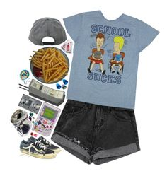 """meh"" by purplefloyd ❤ liked on Polyvore featuring CASSETTE"