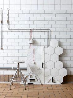 carrelage blanc tile