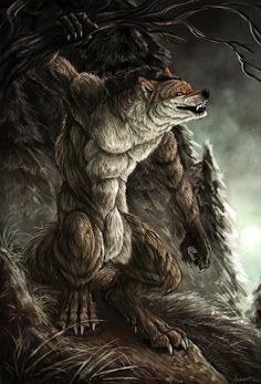 This is my forest by AnsticeWolf on DeviantArt Arte Furry, Furry Art, Fantasy Creatures, Mythical Creatures, Apocalypse, Shadow Wolf, Werewolf Art, Arte Robot, Howl At The Moon