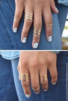 This ring set is perfect for every occasion, every look! Rock a few for a casual look, or stack them up for a glam night out. Free shipping U.S. orders $49 or more + free returns | honeybeeboutiqueonline.com