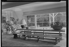 1940 photo, but remarkably modern like current Pottery Barn in its mixture of rustic and simple, modern and natural.    Architects and Designers,  Frankl, Paul T. (Paul Theodore), b. 1886, Interior Designer.  [Unidentified residence],  Black-and-white negatives.    Circa 1940/Maynard Parker