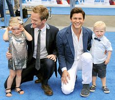 Neil Patrick Harris is smitten with his little girl at his Smurfs 2.