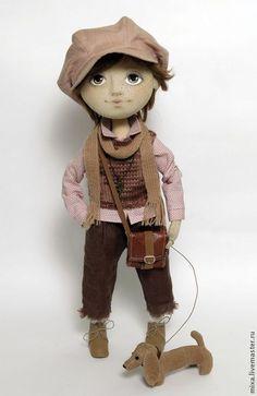 Купить Мальчик Тема - кукла ручной работы, кукла интерьерная, кукла текстильная, кукла мальчик