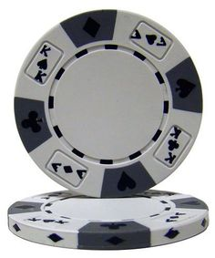 50 White Ace King Suited Clay Composite 14 Gram Poker Chips by Brybelly. $9.49. These are the Ace King Suited 14 gram poker chips. The clay composite chips have the four suits around the edge as well as 2 aces and 2 kings. They have a casino feel and a heavy weight. If you like to switch between cash games and tournaments, these non-denominated chips are great for you! #money #poker