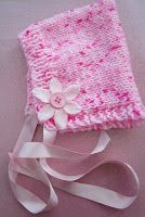 Sophia Baby Bonnet Size; new born Approx 30 gdouble knit yarn 3.25mm and 4mm knitting needles With 3.25mm needles cast on 60 stit...