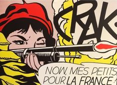 #ArtoftheDay --> ROY LICHTENSTEIN Crak! Now, Mes Petits... Pour la France!, 1964. Lithograph, 18 7/10 × 27 1/5 in (47.5 × 69 cm) exhibited with BOCCARA ART during Miami Art Week at +SCOPE Art Show Miami Beach December 5 – 10, 2017 in Booth E27.