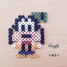 Goofy perler beads by kaisora0_0 http://ibeebz.com
