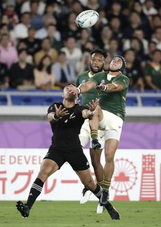 YOKOHAMA, Japan (AP) — The Springboks needed inspiration. Cheslin Kolbe, three of whose five test tries have been against New Zealand, had the All Blacks. Rugby Sport, All Blacks Rugby, Rugby World Cup, Yokohama, New Zealand, Cowboys, Photo Art, South Africa, Hunting