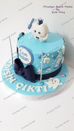 Butik pasta, butik kurabiye ve cupcake tasarımı, İzmit, Kocaeli, butik pasta, butik kurabiye, figürlü pasta, pasta, kurabiye, cupcake Cake Decorating Supplies, Cookie Decorating, Dental Cake, Baby First Cake, Tooth Cake, Cake Models, Baby Girl Cakes, First Tooth, Cake Tutorial