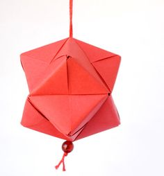 Paper origami Christmas decoration