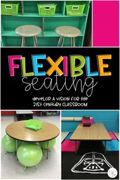 Flexible seating ideas for the classroom. Gather your research and ideas and design a flexible seating environment based on the needs of your students. Student Centered Classroom, Middle School Classroom, New Classroom, Special Education Classroom, Classroom Setup, Classroom Design, Classroom Organization, Classroom Management, 21st Century Classroom