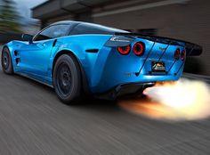 Fire-breathing Blue Devil Corvette ZR1