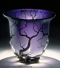 Root Vessel - hand blown art glass by Bernard Katz by Bernard Katz Glass