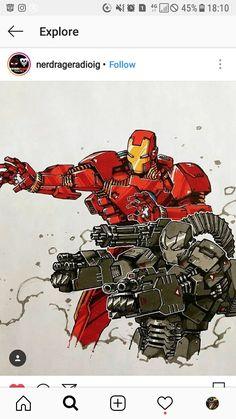 Iron Man and War Machine by Artemii Myasnikov Avengers Cartoon, Avengers Art, Marvel Art, Marvel Dc Comics, Marvel Heroes, Comic Book Artists, Comic Books Art, Comic Art, Comic Character