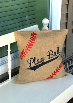 Baseball Moms!!! The season is upon us and it is time to decorate the front porch with baseball mom pillows, door hangers, garden flags and