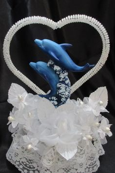 Dolphin Wedding Cake Topper By Unique Creations Uniqueweddingcreations