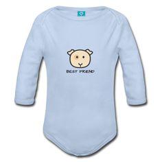 Hamster - Best Friends Baby Bio-Langarm-Body  Langärmliger Baby-Body, 100% Baumwolle aus biologischem Anbau, Marke: Sonar Hamster, Onesies, Best Friends, Clothes, Design, Cotton, Kids, Beat Friends, Outfits