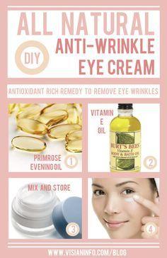 homemade eye cream, anti wrinkle