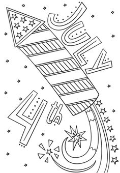 Fourth Of July Coloring Pages Flag Coloring Pages, Doodle Coloring, Free Printable Coloring Pages, Coloring Sheets, Coloring Pages For Kids, Free Coloring, Coloring Worksheets, Adult Coloring, Memorial Day Coloring Pages